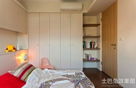 简约风格儿童房组合家具图片