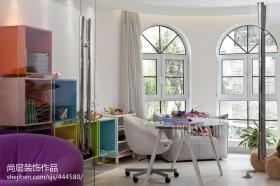 现代风格书房阳台落地窗效果图
