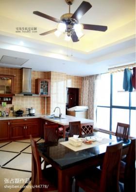 中式风格厨房吊扇灯装修效果图