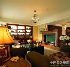 美式田园风格客厅装修效果图大全图片