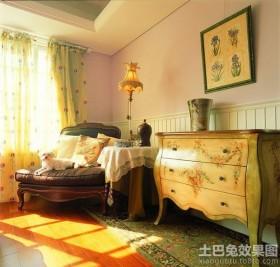 卧室实木单人沙发图片