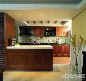 2013美式厨房吧台装修效果图