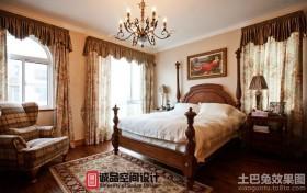 15平米美式风格卧室装修效果图