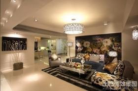 简约风格三室两厅客厅吊顶装修效果图
