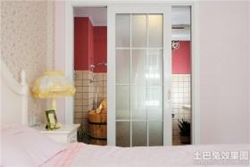 卧室卫生间玻璃推拉门图片