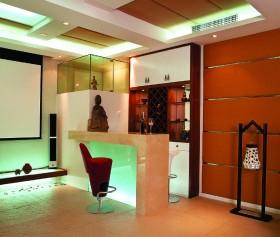 新中式家装吧台装修效果图片