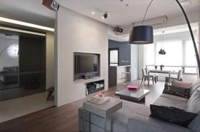 现代风格60平米小户型客厅电视墙效果图
