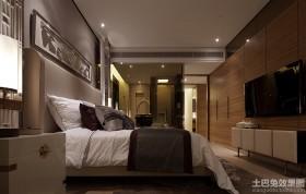 卧室实木电视机背景墙效果图