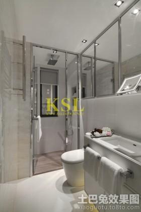 欧式风格卫生间浴室玻璃门装修