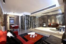现代风格60平米两室一厅不吊顶装修效果图