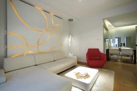 现代简约风格80平米小户型客厅装修效果图