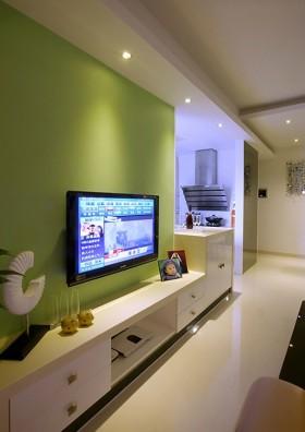 现代简约60平米小户型电视背景墙效果图