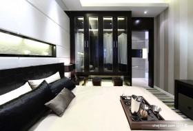 后现代风格卧室玻璃衣柜装修效果图