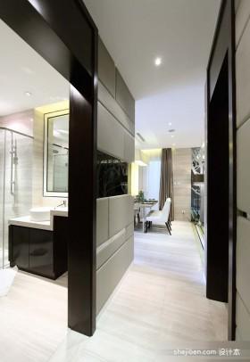 2013现代风格家洗手间过道装修效果图