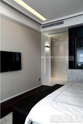 现代简约两居室卧房室内装修效果图
