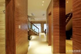 东南亚风格过道实木装饰