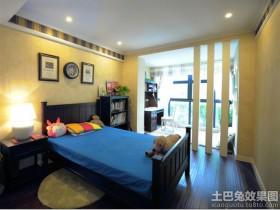 美式风格别墅卧室隔断装修效果图