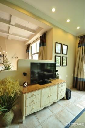 田园风格电视柜装修效果图欣赏