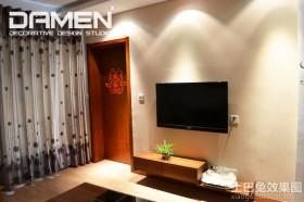 现代简约客厅背景墙装修效果图