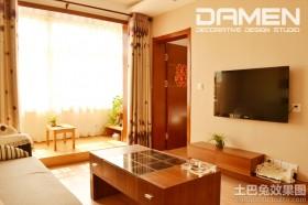 现代简约二居室客厅背景墙装修