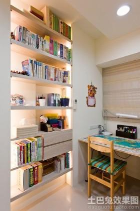 书架8平米小书房博古架装修效果图