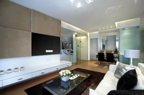 现代简约60平米小户型客厅电视背景墙效果图