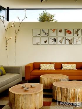原木色客厅家具装修图片