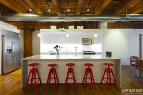 简约开放式厨房装修效果图片
