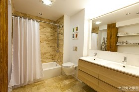 家装卫生间瓷砖装修效果图大全
