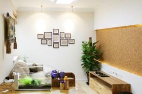 简约风格40平米小户型客厅电视墙效果图
