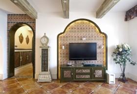 地中海风格别墅电视背景墙效果图