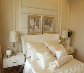 简欧两居室卧室床头软包装修效果图