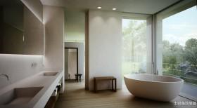 室内装修设计卫生间浴缸效果图