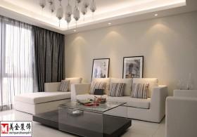 简约客厅家具摆设装修效果图片