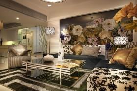 客厅时尚沙发背景墙装修效果图