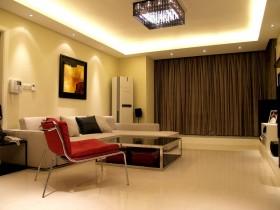 现代简约风格70平米小户型客厅装修效果图欣赏