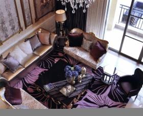 新古典客厅沙发摆放效果图