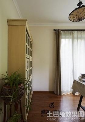 简欧书房靠墙书柜装修效果图