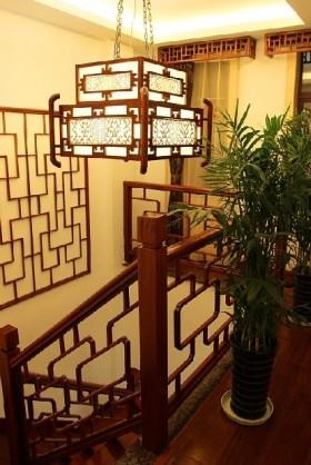 中式别墅室内装饰灯具图片