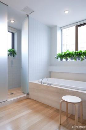 现代公寓卫生间装修效果图
