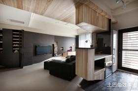 现代别墅大客厅装修设计图片