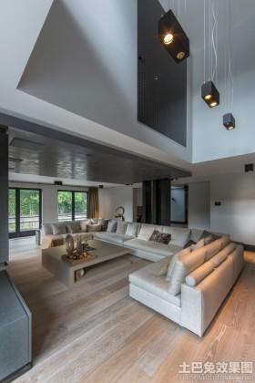 别墅装修现代简约客厅效果图