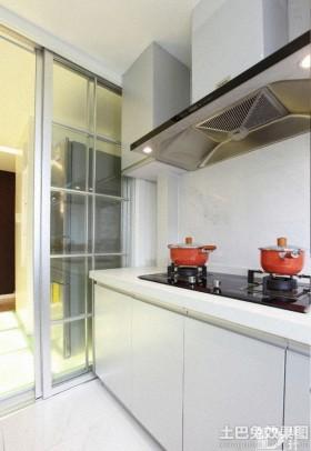 家庭厨房玻璃推拉门效果图
