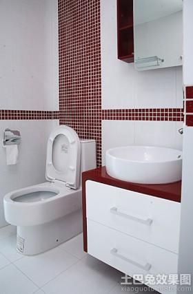 现代卫生间马赛克瓷砖装修效果图