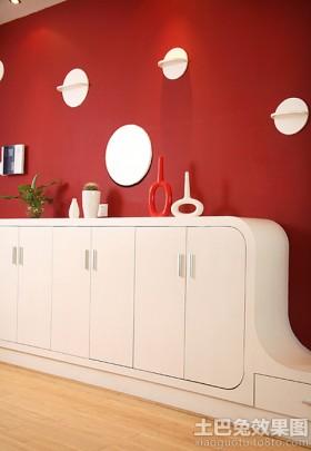 现代风格白色玄关柜装修效果图