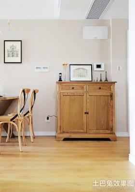 家装实木玄关柜装修效果图