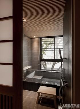日式简约小卫浴装修效果图