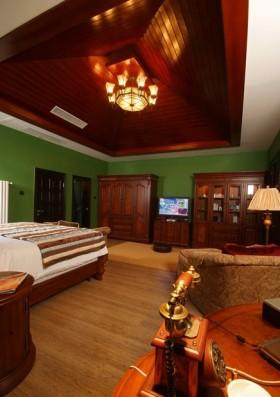 东南亚风格客厅卧室一体装修效果图