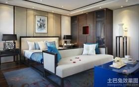 新中式卧室设计效果图