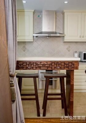 中式风格厨房吧台装修效果图